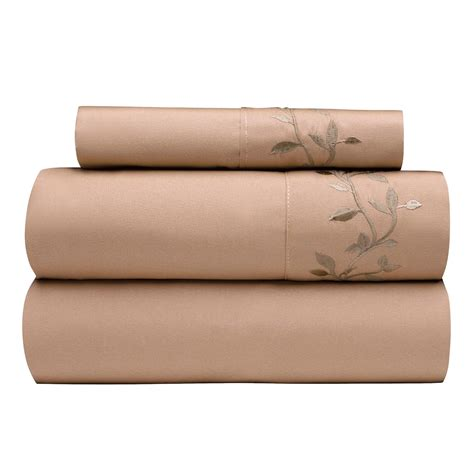 soft sheets soft embroidered microfiber sheet set tree