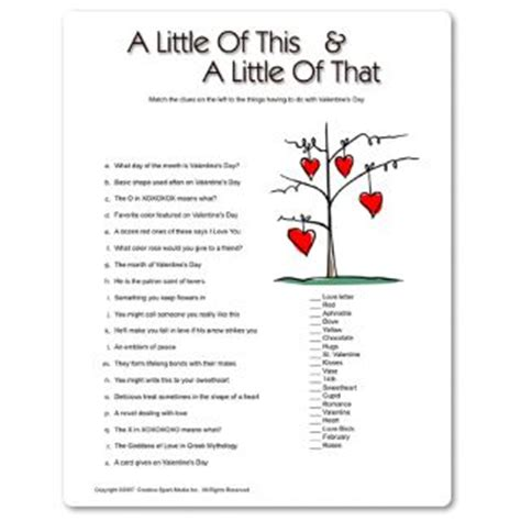 free printable christian games for adults 24 best images about valentines day for widows on