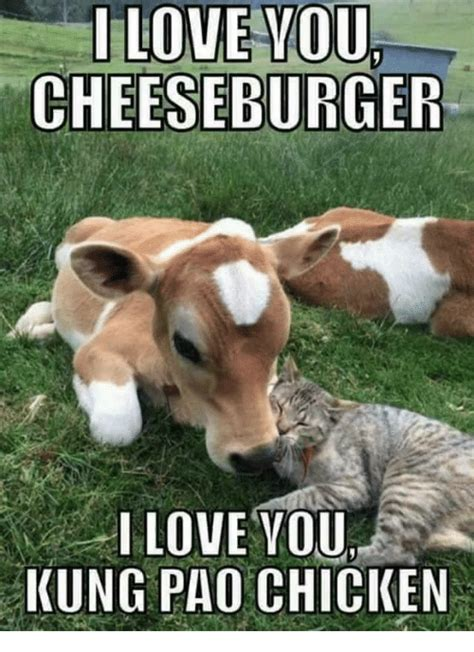 Cheeseburger Meme - ilove you cheeseburger i love you kung pao chicken dank