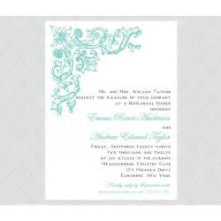 rehearsal dinner invitations antique flourish rehearsal dinner invitations style 601 whimsicalprints