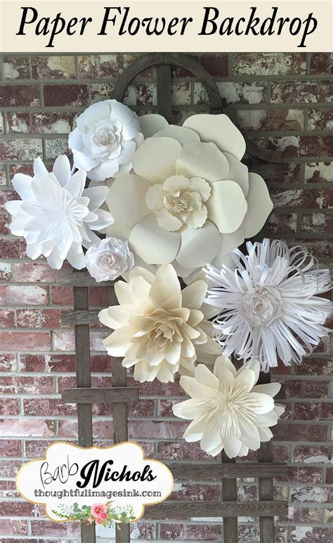 Paper Flowers For Wedding - large paper flowers in white and wedding paper