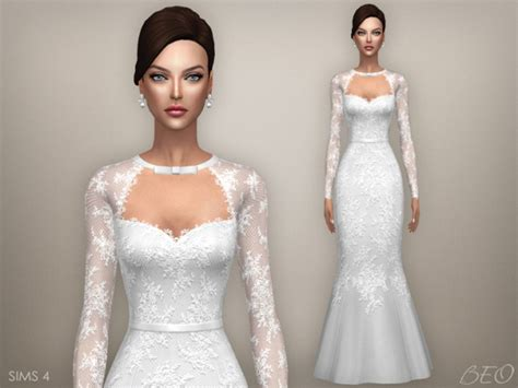 Wedding Dress The Sims 4 by Tatiana Wedding Dress At Beo Creations 187 Sims 4 Updates