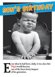 funny son general amp family birthday personalised cards
