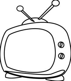 Tv Outline Png by Tv Clip Clipartion