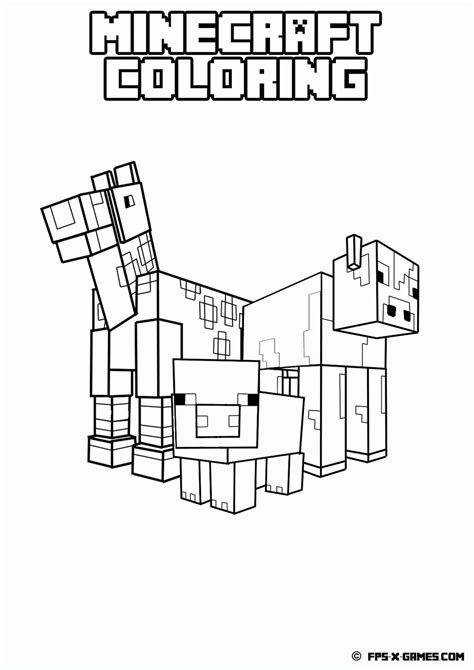 coloring pages of minecraft stylongnose minecraft coloring pages pdf coloring home