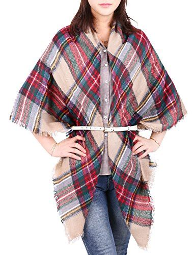 Pashmina Saudi 2 bridal blanket oversized tartan scarf wrap shawl plaid cozy checked pashmina