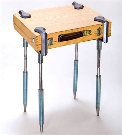c cl legs can turn anything into a table suitcase book canvas table it