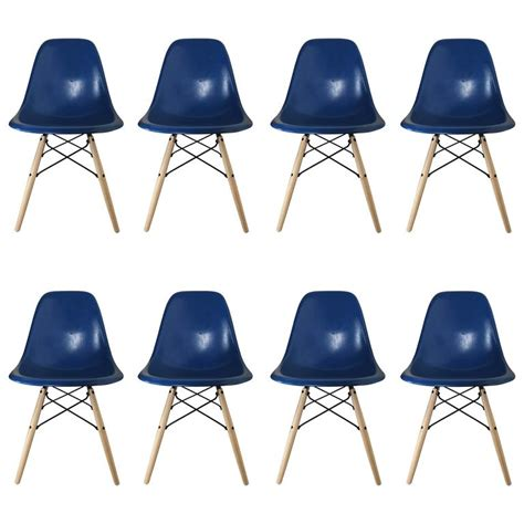 Royal Blue Dining Chairs Eight Royal Blue Herman Miller By Eames Dining Chairs At 1stdibs