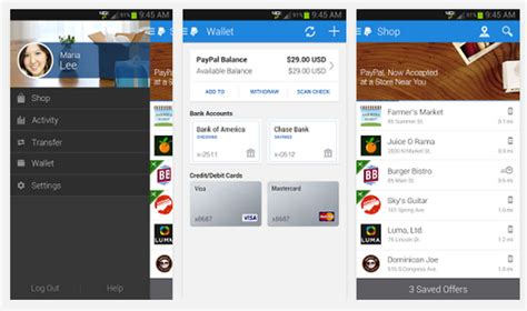 paypal android app paypal best android apps