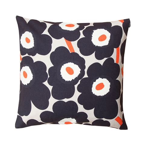 Marimekko Pillows Sale by Marimekko Pieni Unikko Grey Throw Pillow Marimekko Sale