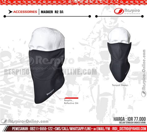 Np Masker Hitam A masker r2 respiro masker motor anti polusi respiro