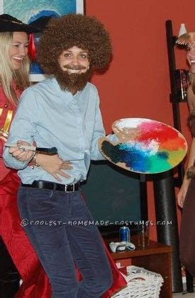 perfect bob ross costume   female bob ross costume