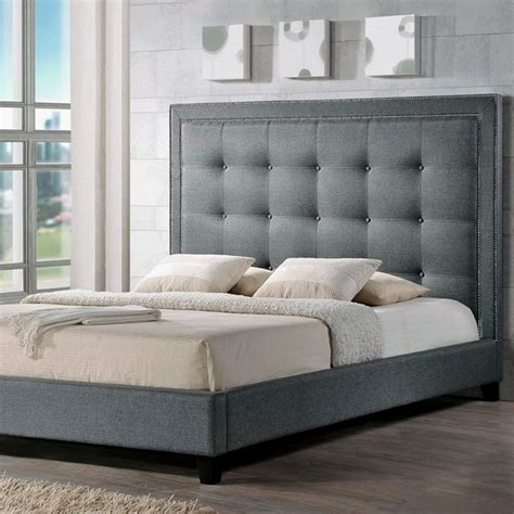 Zuo Modern 100569 Modernity King Bed In Tufted Soft Dove Zuo Modernity Gray Queen Sleigh Bed 100568 The Home Depot
