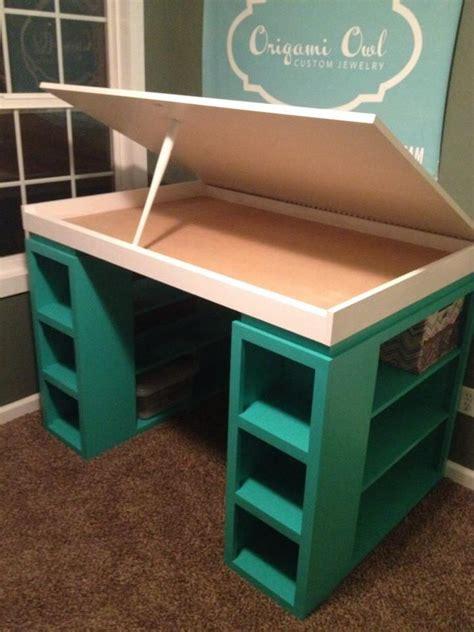 diy craft desk with storage i this twist on the modern craft desk craft desk