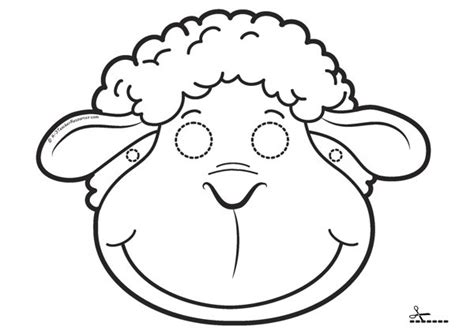 new year sheep mask template printable masks for children k 3 resources