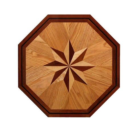 decorative woodwork pid floors 3 4 in thick x 24 in wide octagon medallion
