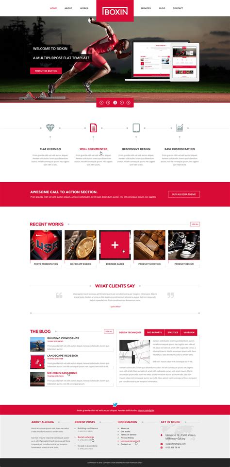 boxin flat creative psd template by darkstalkerr on