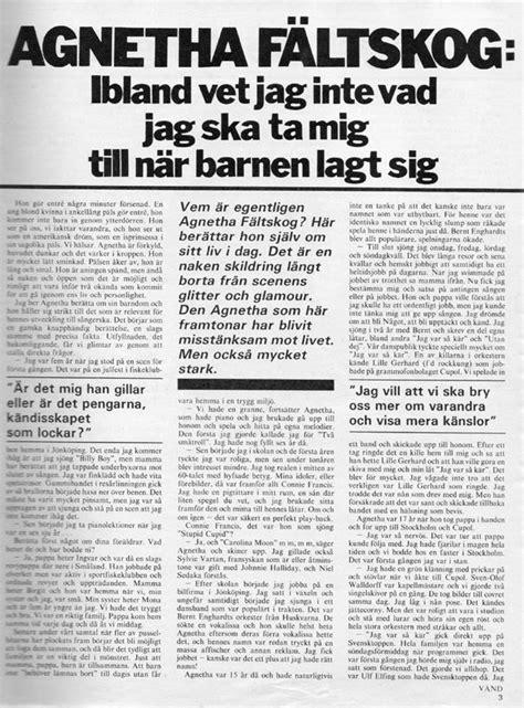 ABBA BRAZIL: Agnetha Fältskog, 1981: É muito difícil viver