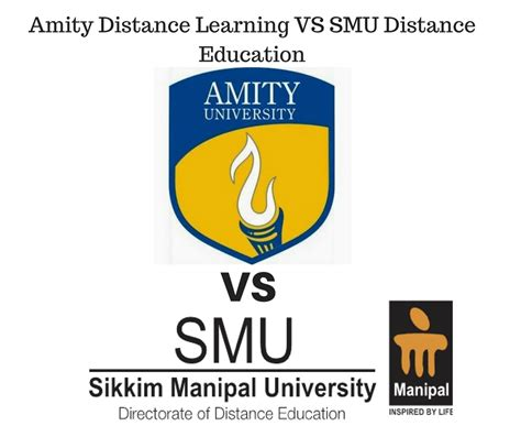 Amity Distance Mba by Amity Distance Learning Vs Smu De Distance Education Delhi