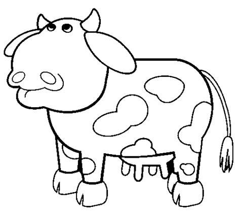 imagenes para colorear vaca dibujo de vaca pensativa para colorear dibujos net