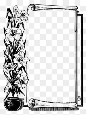 scroll frame clipart shape border clip art