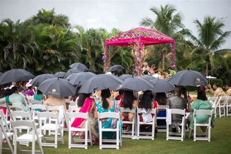 Wedding Ceremony Umbrellas by Bright And Festive Hindu Celebration With Outdoor Ceremony