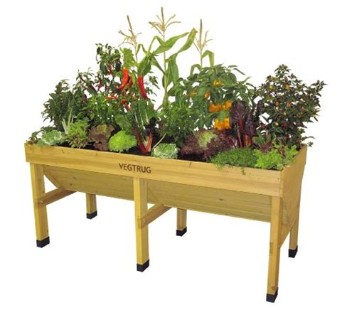 Elevated Container Garden Planters by Vegtrug Fir Wood Elevated Planter Container Garden Club