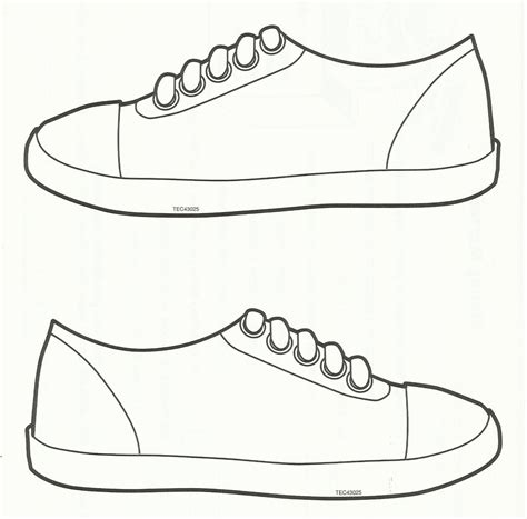 Free Printable Shoe Print Template