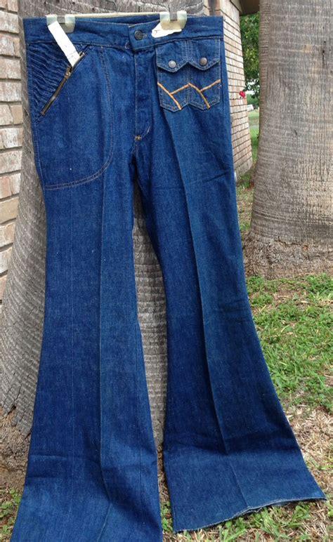 topeka   vintage big bell bottom blue denim jeans