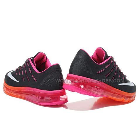 nike max air womens running shoes womens nike air max 2016 running shoes black pink orange