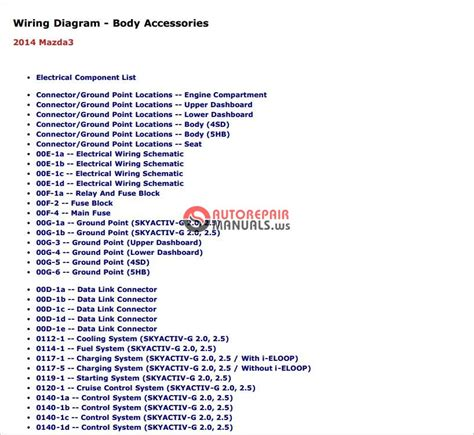 mazda 3 2014 workshop repair service manual auto repair