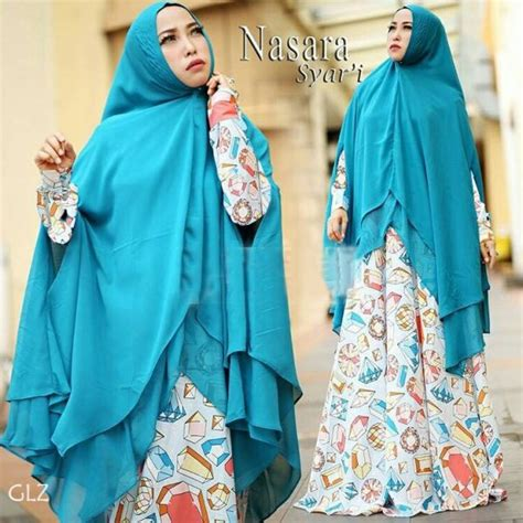 Baju Gamis Wanita Dan Khimar Zaida Set Syari model baju muslimah gamis syari modern terbaru setelan khimar