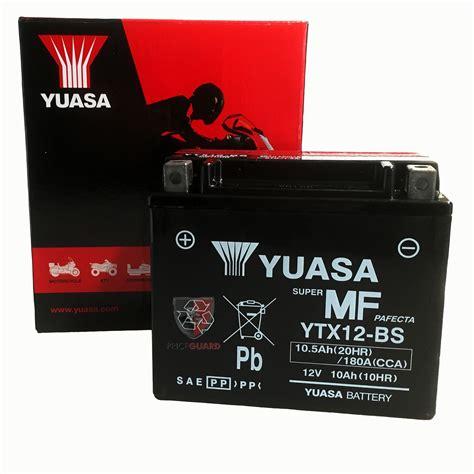 Ytx12 Bs Motorradbatterie by Yuasa Motorrad Batterie Ytx12 Bs Ytx 12 Bs Neu
