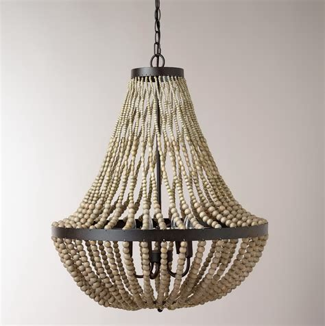 diy bead chandelier wood bead chandelier diy home design ideas