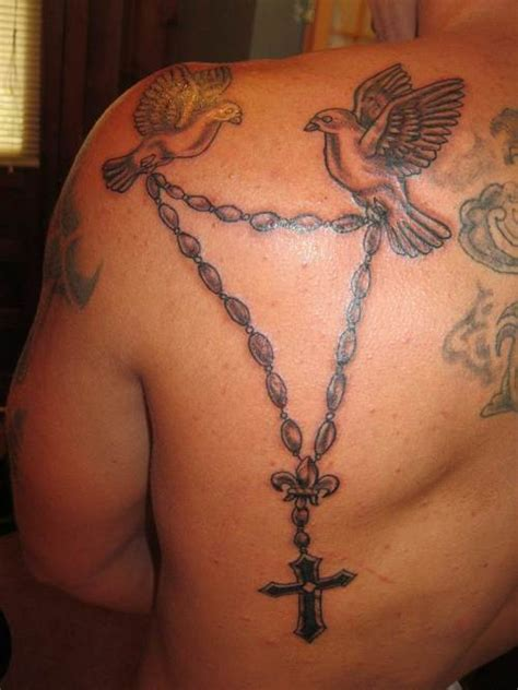 small rosary tattoos lejouroujesuismorte small rosary tattoos on back ideas