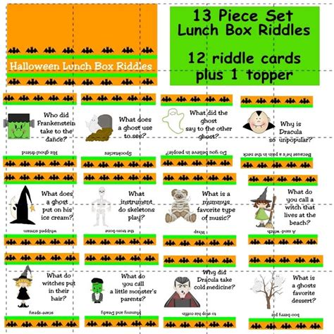 printable riddle quiz halloween printables