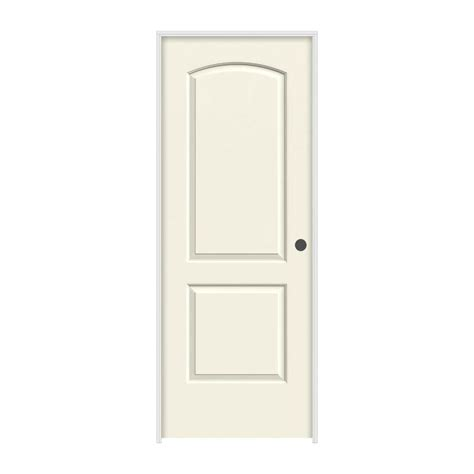 home depot jeld wen interior doors jeld wen 24 in x 80 in molded smooth 2 panel arch vanilla hollow composite single