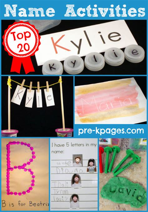 kindergarten activities names name activities for preschool
