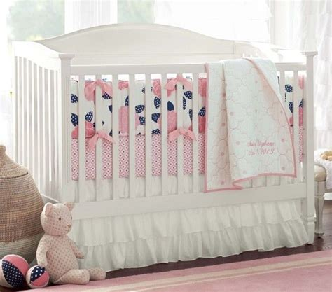 navy and pink crib bedding mallory nursery bedding pottery barn kids another cute