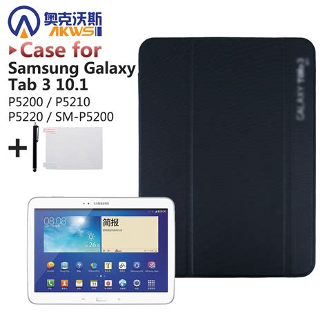 Second Samsung Galaxy Tab 3 10 1 Pu Leather Stand Cover Funda For Samsung Galaxy Tab 3 10 1 P5200 P5210 P5220 10 1 Inch