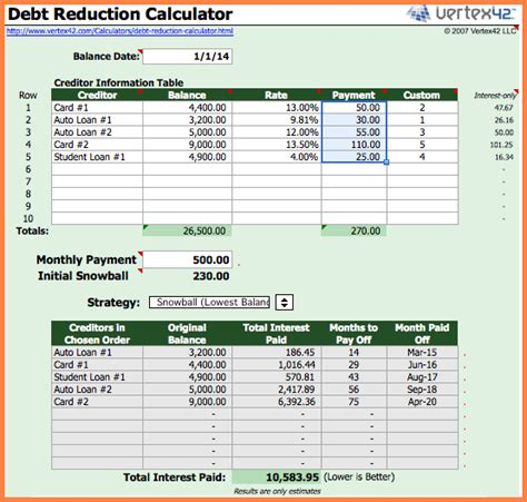 Debt Payoff Spreadsheet Excel by 7 Bill Payment Spreadsheet Excel Templates Excel Spreadsheets