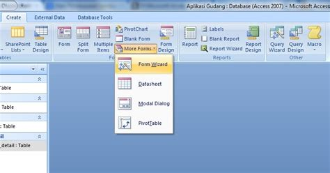 membuat database gudang dengan access contoh database access gudang contoh aoi