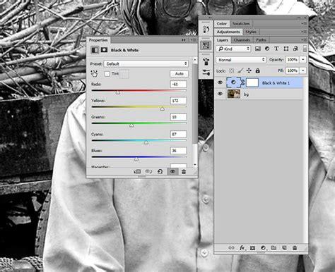 membuat foto hitam putih  photoshop dianisacom