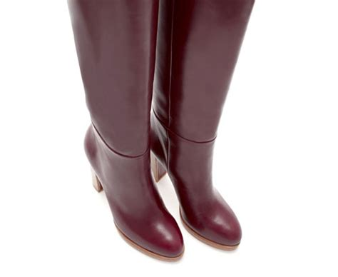 burgundy boots zara burgundy leather platform knee boots gt shoeperwoman