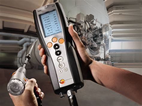 a testo testo 340 combustion analyzer metal and steel