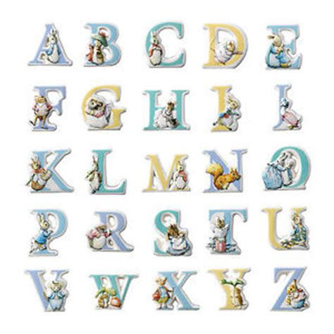 Character Letter G Beatrix Potter Rabbit Characters Alphabet Letters Choose From Menu Bnib Ebay