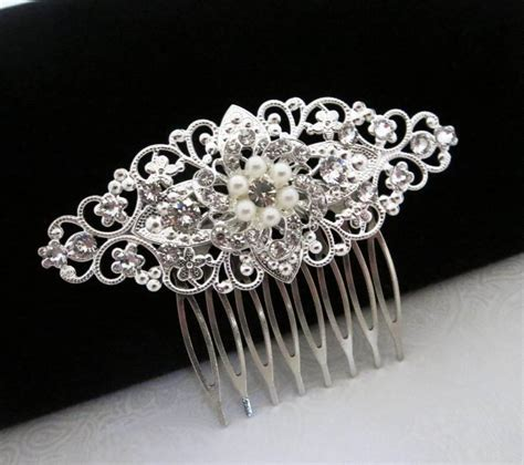 Vintage Style Wedding Hair Combs by Vintage Style Hair Comb Bridal Hair Comb Swarovski