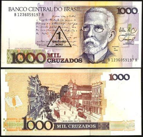 Brasil 500 Cruzados Unc 1000 cruzados brazil 1989 unc eurocollection