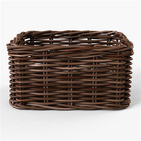 wicker basket ikea byholma max wicker basket ikea byholma 1 brown 3d model