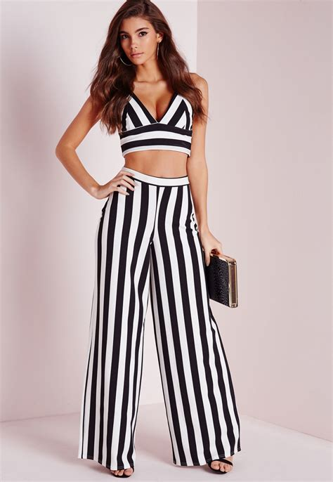 Stripe Wide striped wide leg pant so